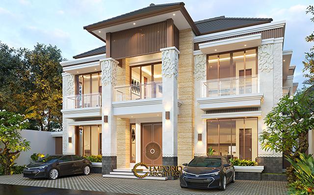 Desain Kost Villa Bali 2 Lantai Ibu Olive di  Bali