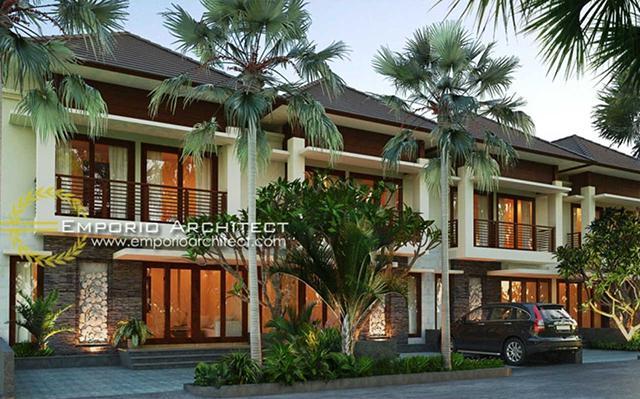 Mr. Aris Villa Bali Residence 2 Floors Design - Palembang