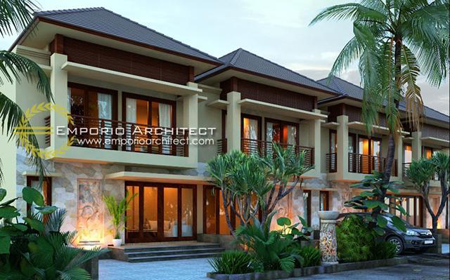 Desain Perumahan Villa Bali 2 Lantai Bapak Putra di  Depok