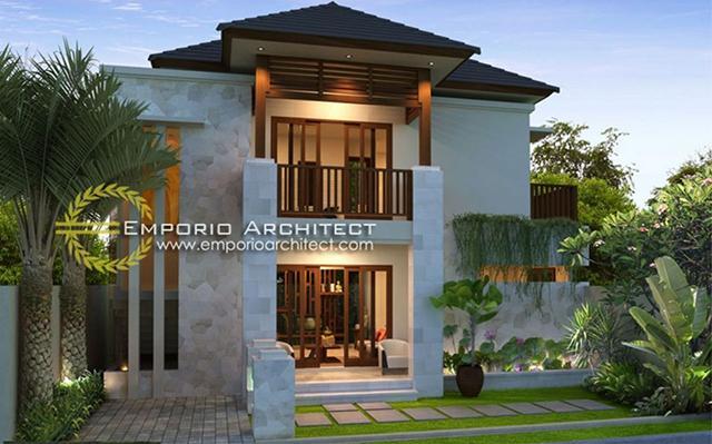 Desain Rumah Villa Bali 2 Lantai Ibu Agung Arini di  Denpasar, Bali