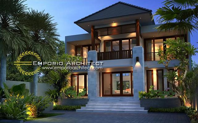 Desain Rumah Villa Bali 2 Lantai Bapak Artana di  Denpasar, Bali