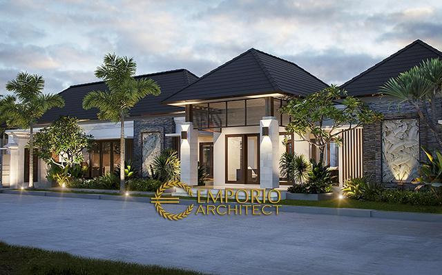Desain Rumah Villa Bali 1 Lantai Bapak Adit Brata di  Jakarta