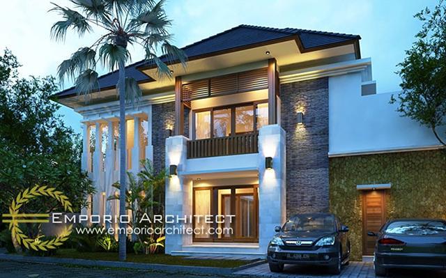 Desain Rumah Villa Bali 2 Lantai Bapak Andri di  Jakarta