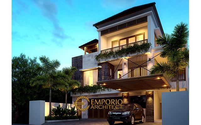 Desain Rumah Villa Bali 3 Lantai Bapak Dian Lesmana II di  Denpasar, Bali