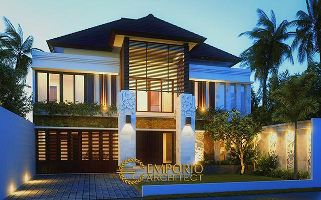 Desain Rumah Villa Bali 2 Lantai Bapak Faisal di  Jakarta