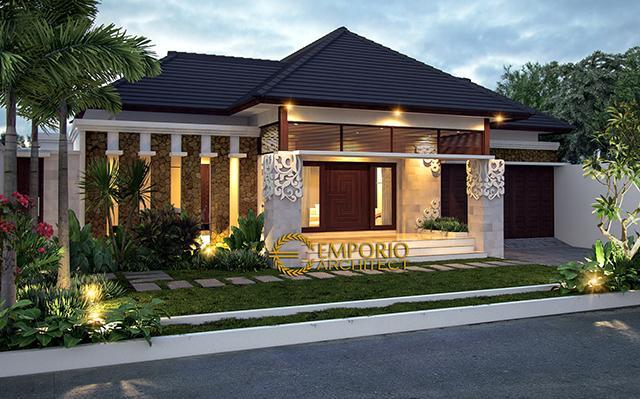 Desain Rumah Villa Bali 1 Lantai Bapak Farman Ali di  Jawa Timur