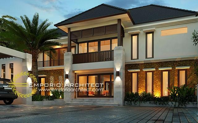 Mr. Freddy Villa Bali House 2 Floors Design - Samarinda Kalimantan