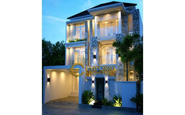 Desain Rumah Villa Bali 3 Lantai Bapak Ibnu Hadi di  Jakarta