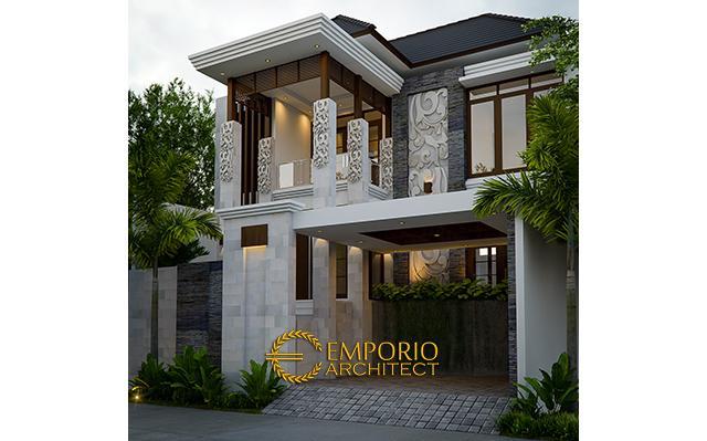 Desain Rumah Villa Bali 2 Lantai Bapak Irfan di  Jakarta