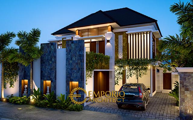Desain Rumah Villa Bali 2 Lantai Bapak Mahyudin Batubara di  Bogor