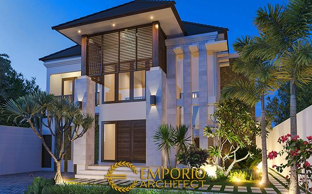 Desain Rumah Villa Bali 2 Lantai Bapak Puja Kartawijaya di  Bogor