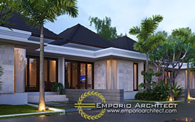 Mr. Putra II Villa Bali House 1 Floor Design - Depok