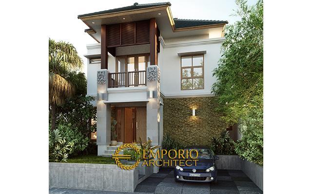 Desain Rumah Villa Bali 2 Lantai Bapak Tomo di Denpasar di  Denpasar, Bali