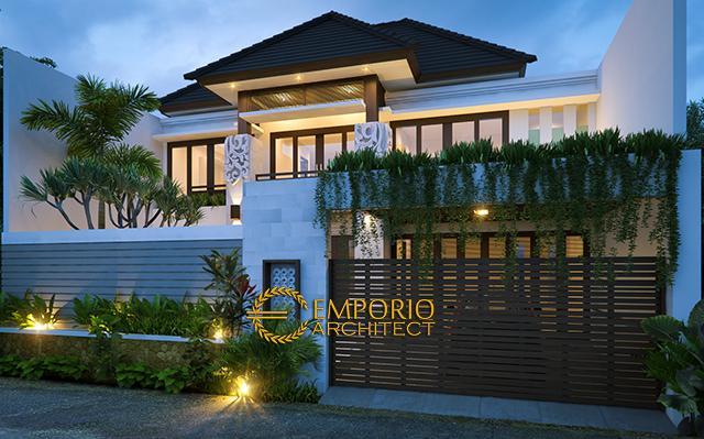 Desain Rumah Villa Bali 2 Lantai Bapak Yulianto di  Jakarta