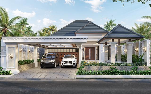 Mr. Asep Billy Classic House 1 Floor Design - Pangandaran, Jawa Barat