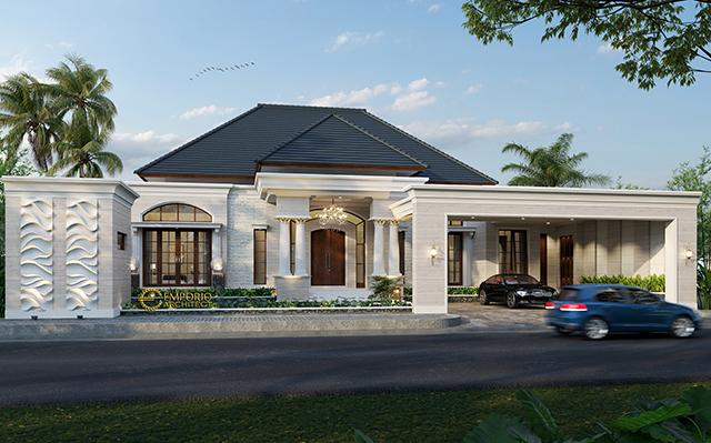 Mr. Hendry Classic House 1 Floor Design - Riau