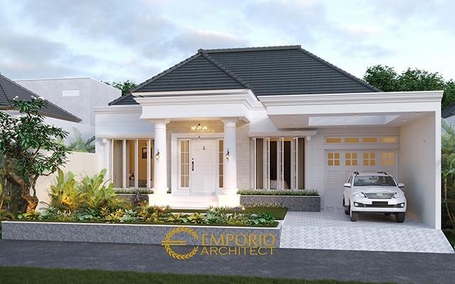 Desain Rumah Classic 1 Lantai Ibu Lellyta di  Kutai Kartanegara, Kalimantan Timur