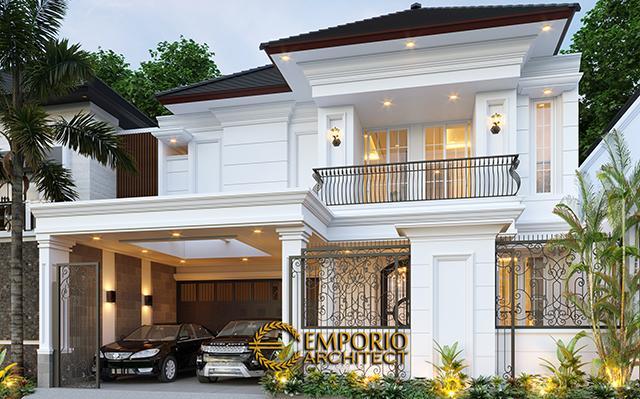 Desain Rumah Classic 2 Lantai Ibu Sicil di  Jakarta Selatan