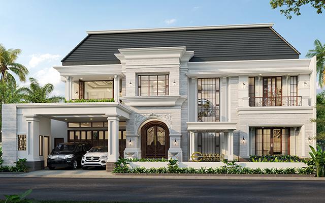 Mrs. Desnita Classic House 2 Floors Design - Padang, Sumatera Barat