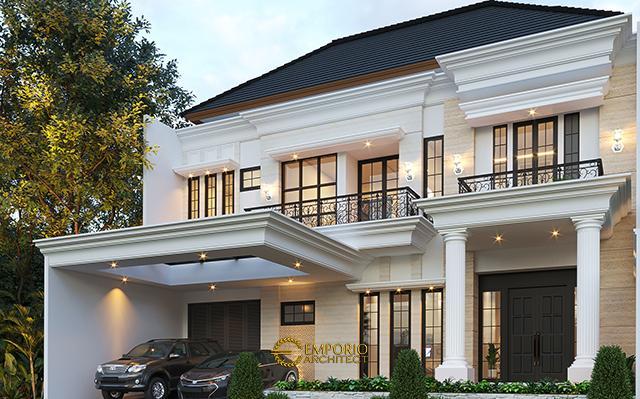 Desain Rumah Classic 2 Lantai Ibu Yuli di  Tangerang, Banten
