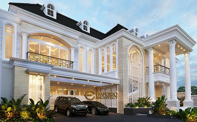 Desain Rumah Classic 2 Lantai Ibu Lita di  Cibubur, Jakarta Timur