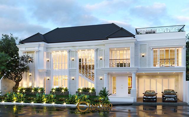 Desain Rumah Classic 2 Lantai Bapak Anto di  Bandung, Jawa Barat