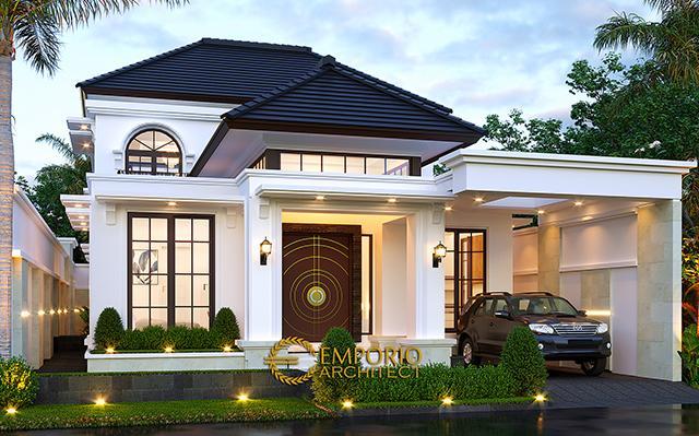 Desain Rumah Classic 2 Lantai Ibu Joanne di  Yogyakarta