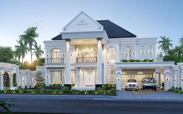 Desain Rumah Classic 2 Lantai Bapak Mubin di  Bengkulu