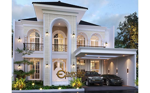 Desain Rumah Classic 2 Lantai Ibu Dian di  Tangerang Selatan, Banten