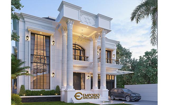 Mrs. Rehuel Classic House 2 Floors Design - Papua
