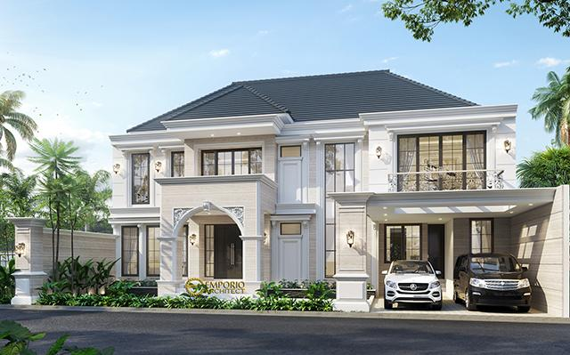 Mr. Hartowo Classic House 2 Floors Design - Balikpapan, Kalimantan Timur
