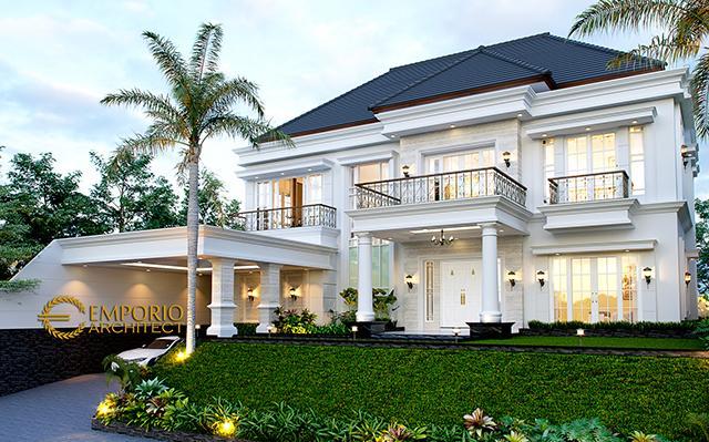 Desain Rumah Classic 2 Lantai Mrs. Karina di  Jambi