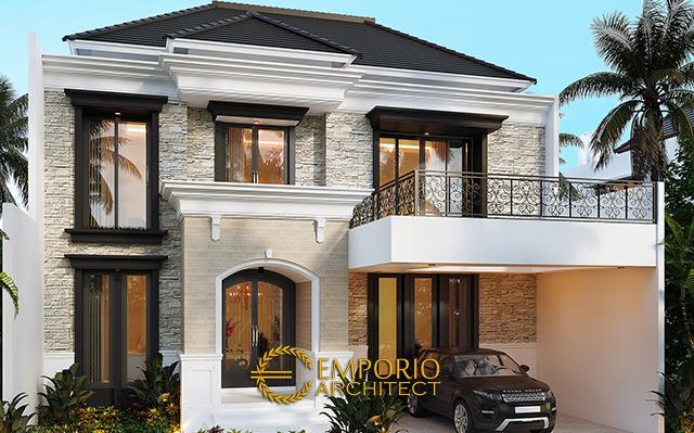 Desain Rumah Classic 2 Lantai Bapak Borsin di  Tangerang, Banten