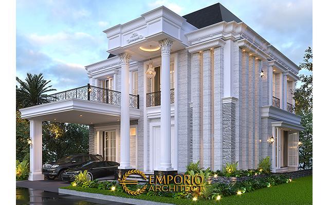 Desain Rumah Classic 2 Lantai Bapak Maradona di  Tangerang, Banten