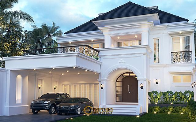 Desain Rumah Classic 2 Lantai Bapak Ridwan di  Bandung, Jawa Barat