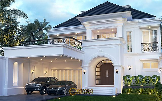 Mr. Ridwan Classic House 2 Floors Design - Bandung, Jawa Barat