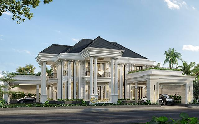 Mrs. Sari Classic House 2 Floors Design - Aceh