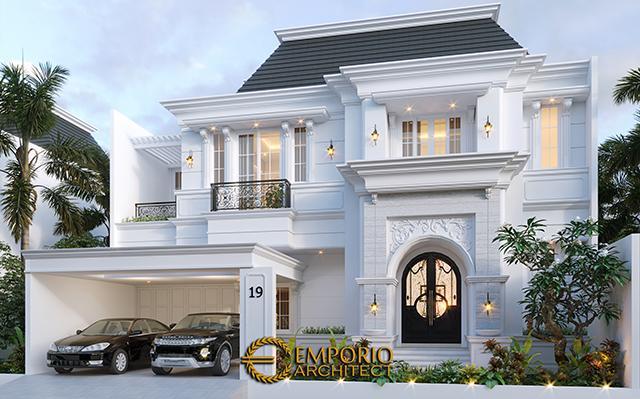 Desain Rumah Classic 2 Lantai Bapak A di  Bintaro, Jakarta