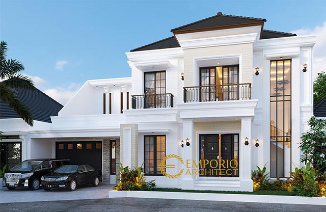 Mr. Adit Brata III Classic House 2 Floors Design - Jakarta