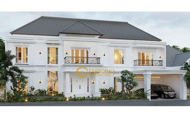 Desain Rumah Classic 2 Lantai Bapak Hidayat di  Makassar, Sulawesi Selatan