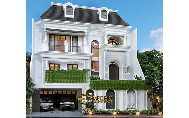 Mrs. Gina Classic House 2.5 Floors Design - Bandung, Jawa Barat