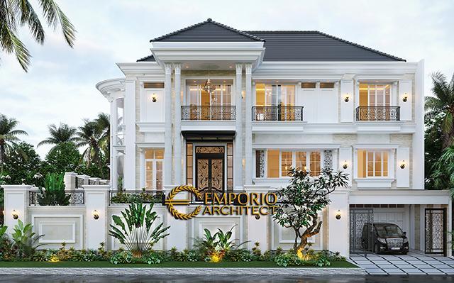 Desain Rumah Classic 2.5 Lantai Ibu Claudia di  Tangerang, Banten