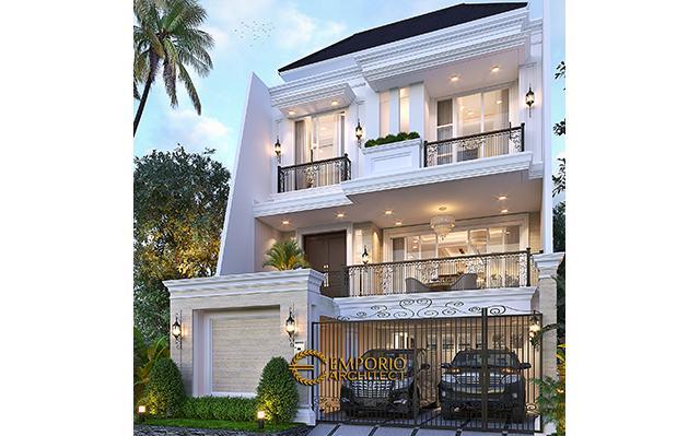 Mrs. W Classic House 3 Floors Design - Jakarta