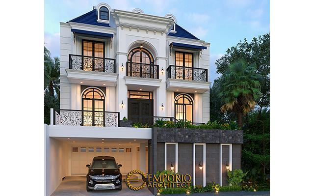 Desain Rumah Classic 3 Lantai Ibu Alycia di  Jakarta Selatan