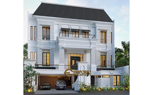 Desain Rumah Classic 3 Lantai Bapak Ahok di  Jakarta