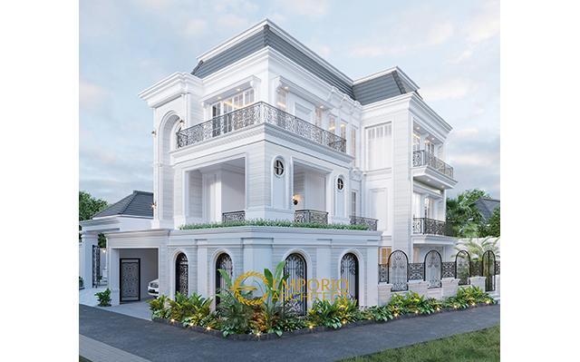 Desain Rumah Classic 3 Lantai Ibu Christine di  Bandung, Jawa Barat