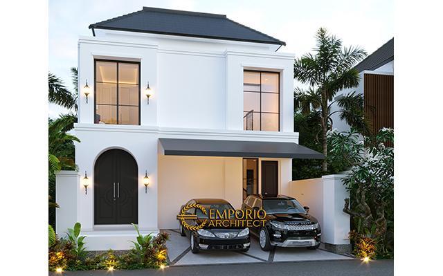 Desain Rumah Classic 2 Lantai Ibu Ica di  Bandung, Jawa Barat