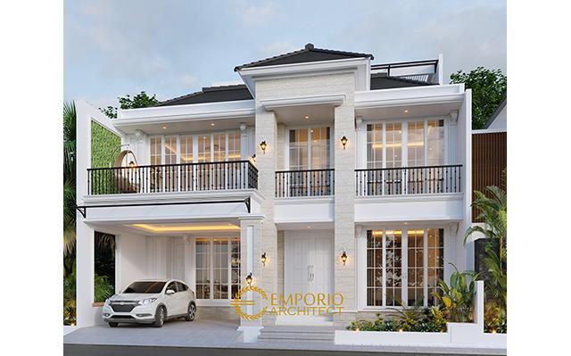 Desain Rumah Classic 3 Lantai Ibu Ninin di  Tangerang Selatan, Banten