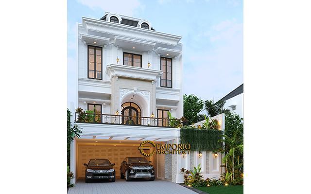 Desain Rumah Classic 3 Lantai Ibu Tami di  Jakarta Timur