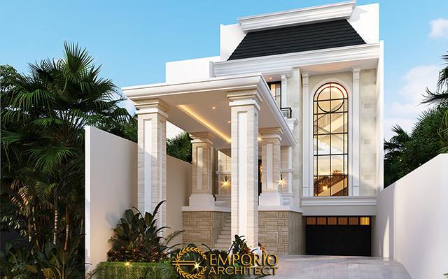 Desain Rumah Classic 3.5 Lantai Ibu Tien di  Jakarta